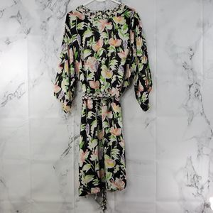 Anthropologie Floreat Duster One Size Floral Robe